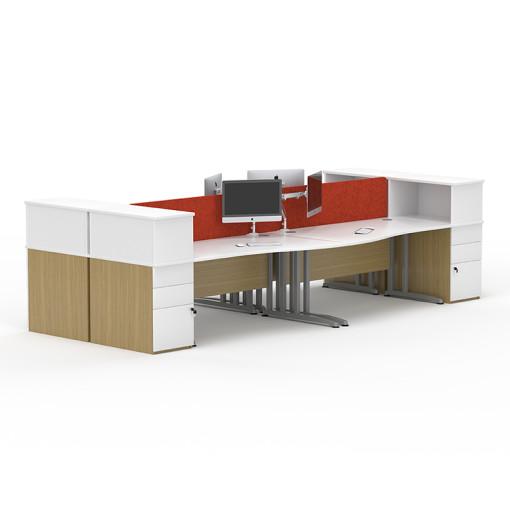 Pulsar desking system quay for Furniture quay