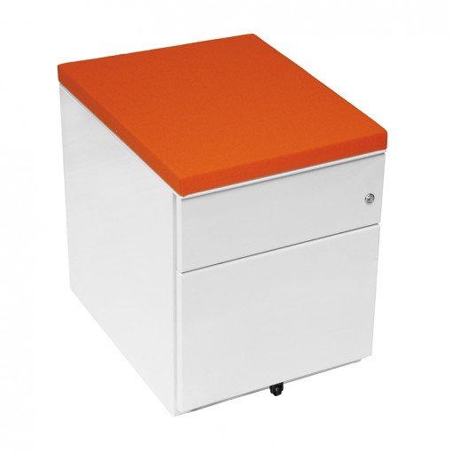 Bisley Desk Integrated Pedestals orange top