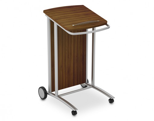 Mobile Lecturn Walnut