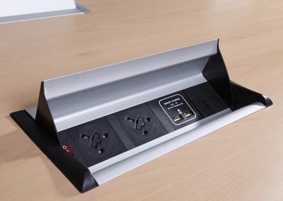 quay-desk top flip black-aero-flip-power-module-apdb2p1ssc2d