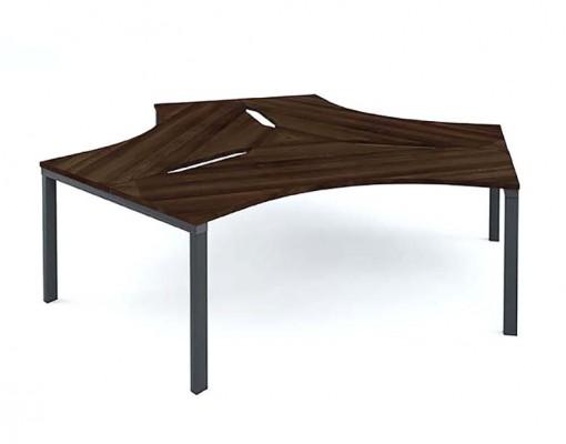 Mesa desk 120- 3 person Cluster