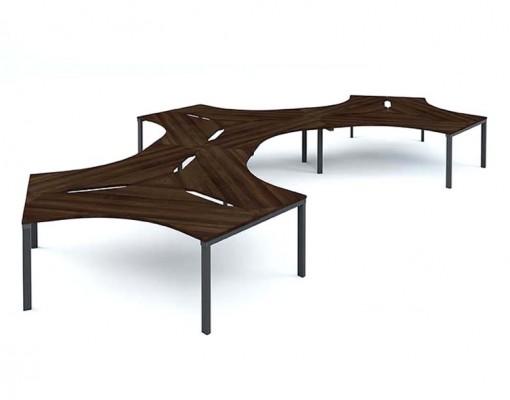 Mesa Desk 120- 9 person Cluster