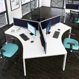 Mesa Desk 120 Cluster Visual