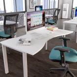 Mesa Desk Double Wave