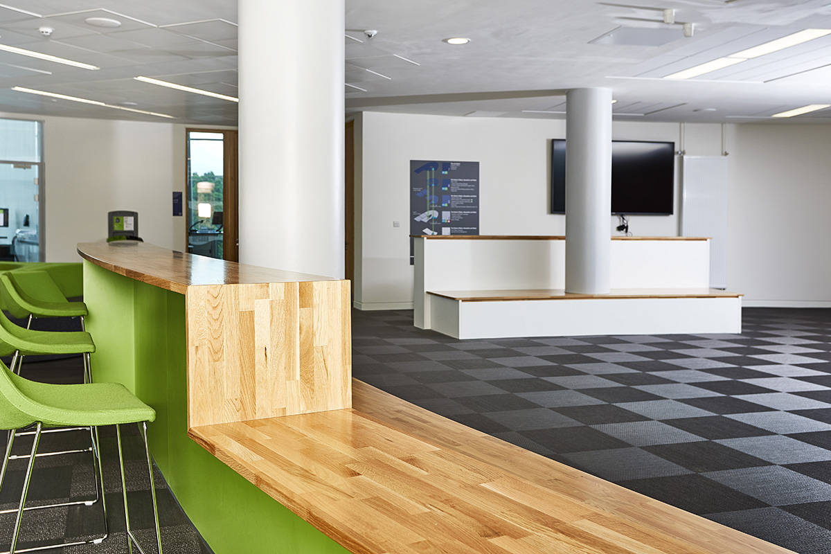 Bespoke Wooden Seating and Alvier Stools in Lime and Flooring